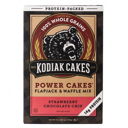 Kodiak Cakes Strawberry Chocolate Chip Flapjack & Waffle Mix, 482g