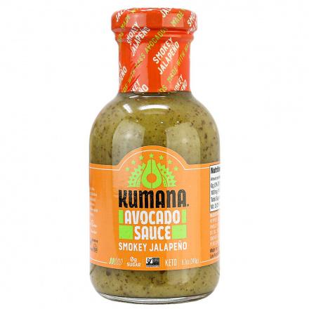 Kumana Sugar-Free Avocado Sauce Smokey Jalapeno, 246g