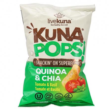 Front of LiveKuna Kuna Pops Quinoa & Chia Tomato & Basil, 99g