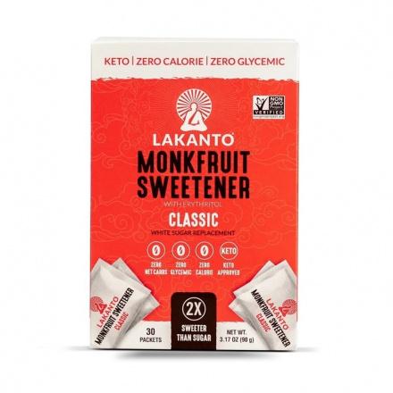Lakanto Monkfruit Sweetener 30 Packets Classic, 90g