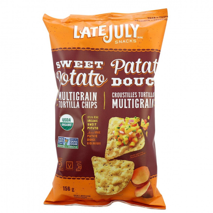 Late July Organic Sweet Potato Multigrain Tortilla Chips, 156g