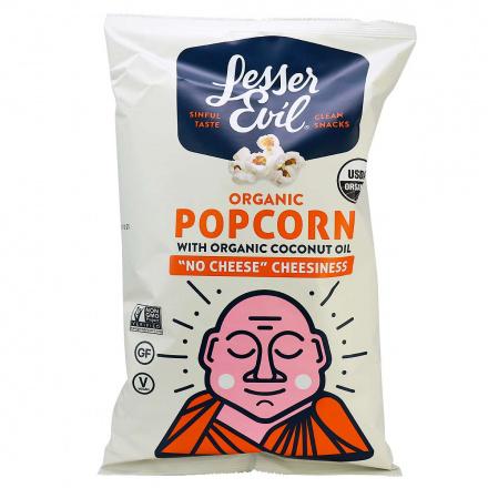 Lesser Evil Organic Popcorn No Cheese Cheesiness, 142g