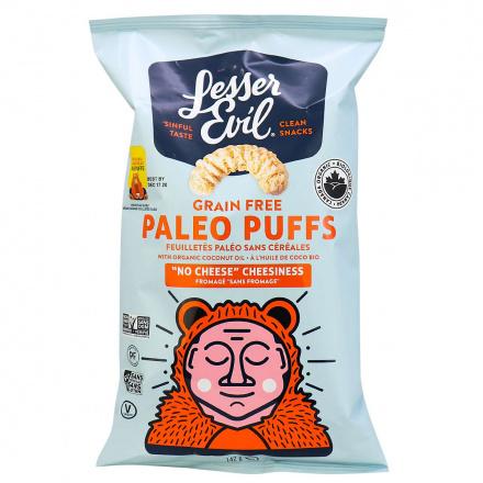 Lesser Evil Organic Grain Free Paleo Puffs No Cheese Cheesiness, 140g
