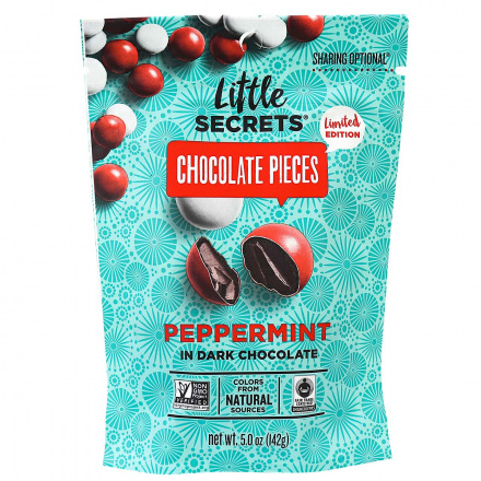 Little Secrets Chocolate Pieces Peppermint in Dark Chocolate, 142g