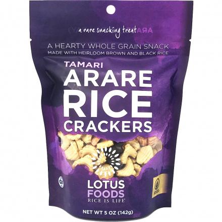 Lotus Foods Tamari (Shoyu) Arare Rice Crackers, 142g