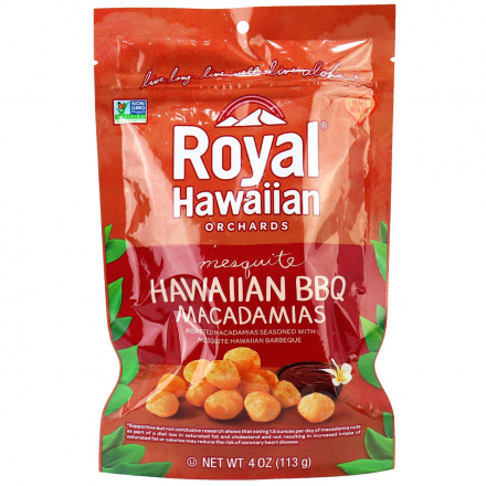 Royal Hawaiian Orchards Hawaiian BBQ Macadamia Nuts, 113g