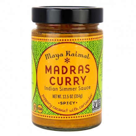 Maya Kaimal Madras Curry Indian Simmer Sauce Spicy, 354g