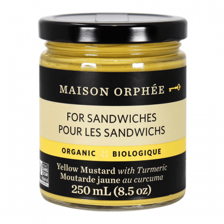 Front of Maison Orphee Organic Yellow Mustard with Turmeric