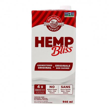 Manitoba Harvest Hemp Bliss Unsweetened Original, 946ml