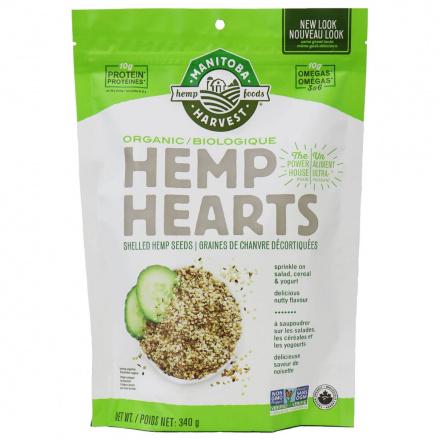 Manitoba Harvest Organic Hemp Hearts Shelled Seeds, 340g
