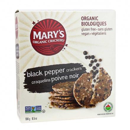 Mary's Gone Crackers Organic Gluten-Free Crackers Black Pepper, 184g