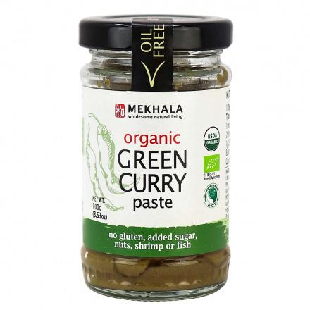 Mekhala Organic Vegan Green Curry Paste, 100g