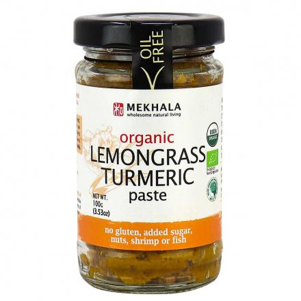 Mekhala Organic Vegan Lemongrass Turmeric Paste, 100g