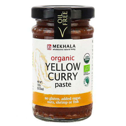 Mekhala Organic Vegan Yellow Curry Paste, 100g