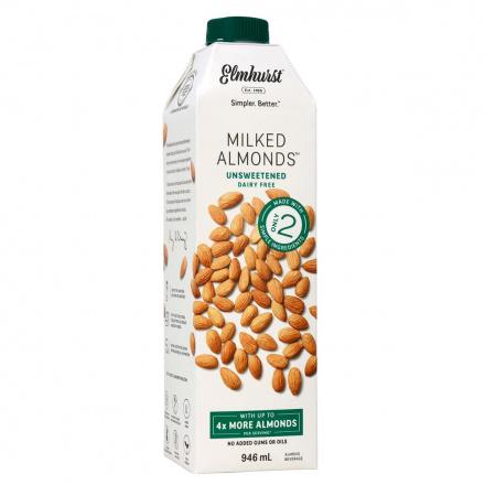 Elmhurst Unsweetened Almond Milk, 946ml