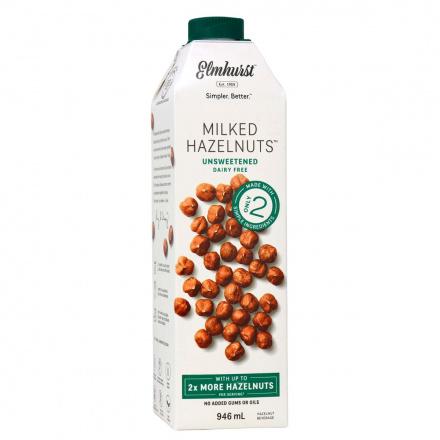 Elmhurst Unsweetened Hazelnut Milk, 946ml