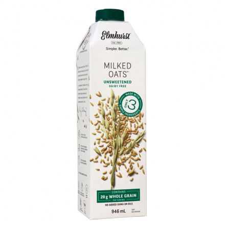 Elmhurst Unsweetened Oat Milk, 946ml