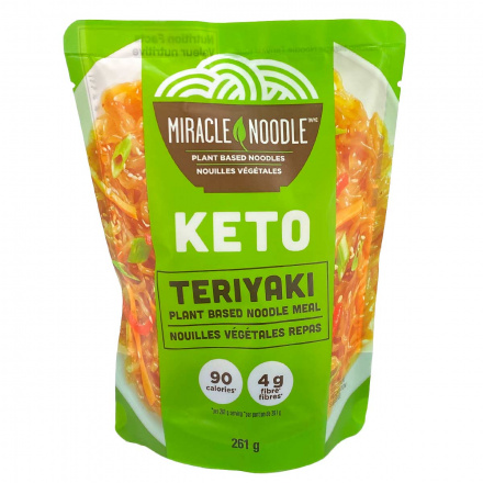 Front of Miracle Noodle Keto Meal Teriyaki + Plant Based Noodles, 261g