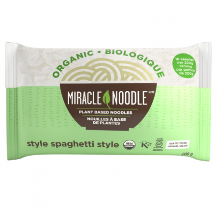 Front of Miracle Noodle Spaghetti Style