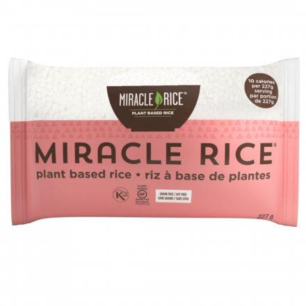 Front of Miracle Noodle Miracle Shirataki Rice, 227g