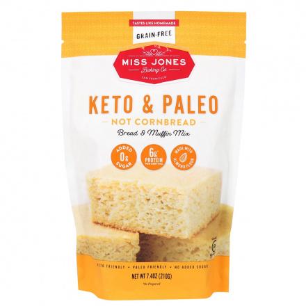 Front of Miss Jones Baking Co. Keto & Paleo Not Cornbread Bread & Muffin Mix, 210g