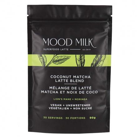 Front of Mood Milk Superfood Latte Coconut Matcha Latte Blend, 90g