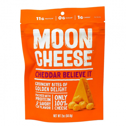 Front of Moon Cheese Cheddar, 57g