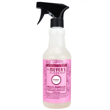 Front of Mrs. Meyer's Clean Day Multi-Surface Cleaner Peony, 473mL