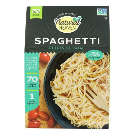 Front of Natural Heaven Veggie Spaghetti Made with Palm Hearts, 255g