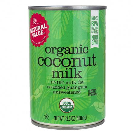 Natural Value Organic Regular Coconut Milk, No Guar Gum, 400ml