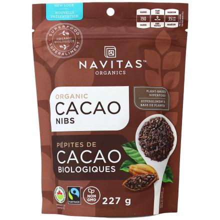 Navitas Naturals Organic Cacao Nibs, 227g