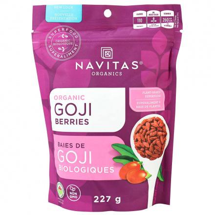 Front of Navitas Naturals Organic Goji Berries, 227g