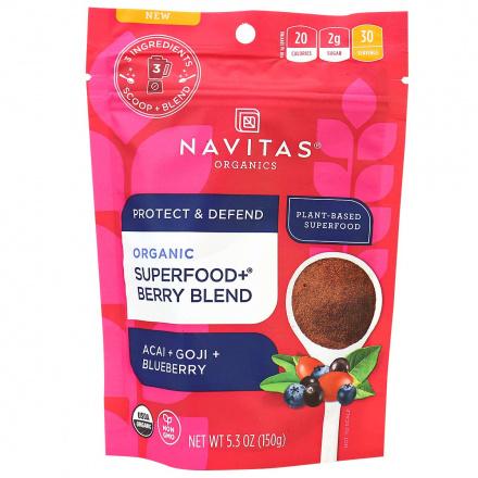 Navitas Organics Protect & Defend Superfood+ Berry Blend, 150g