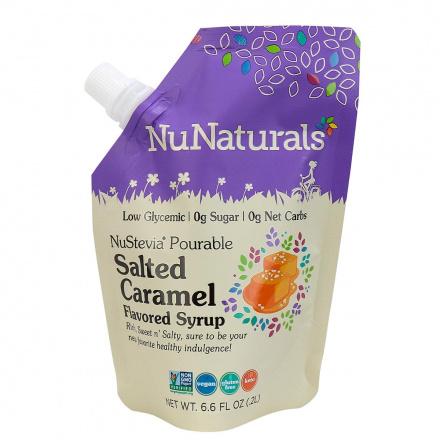NuNaturals Keto Salted Caramel Flavoured Syrup, 6.6 fl oz