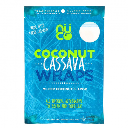 Nuco Coconut Cassava Wraps, Pack of 5