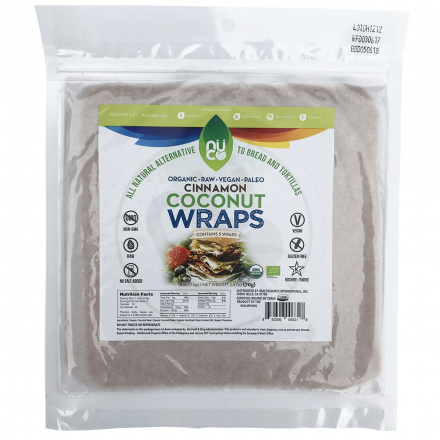 Nuco Cinnamon Coconut Paleo Wraps, Pack of 5