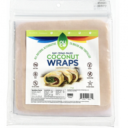 Nuco Coconut Paleo Wraps, Pack of 5