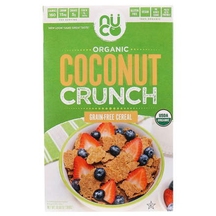Front of Nuco Coconut Crunch Cereal, 300g