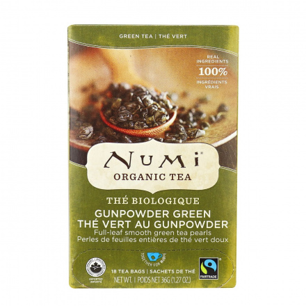 Numi Organic Gunpowder Green Tea, 18 Bags