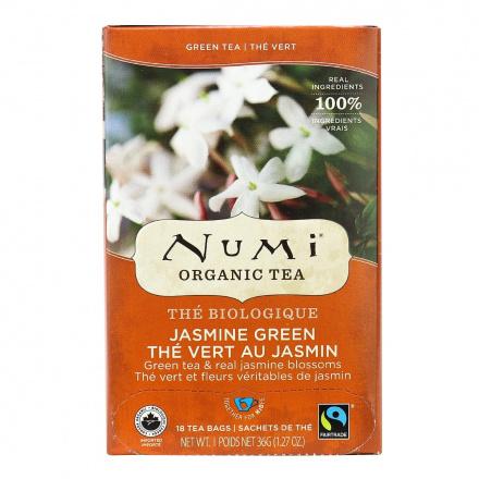 Numi Organic Jasmine Green Tea, 18 Bags
