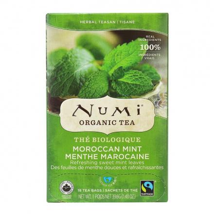 Numi Organic Moroccan Mint Tea, 18 Bags