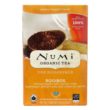 Numi Organic Rooibos Tea, 18 Bags