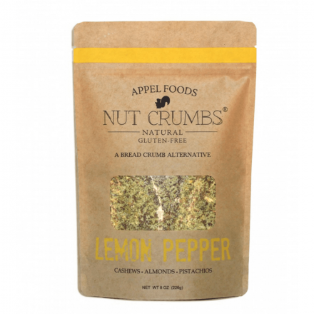 Appel Foods Nut Crumbs Gluten-Free Bread Crumbs Lemon Pepper, 226g