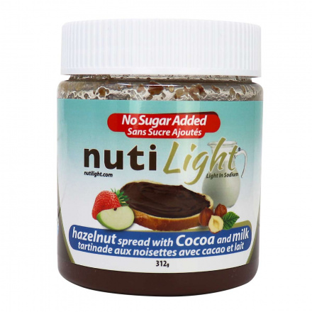 NutiLight Milk Chocolate Hazelnut Spread, 312g