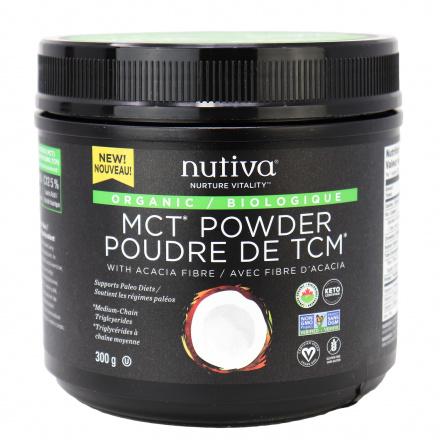 Front of Nutiva Organic MCT Powder With Acacia Fiber, 300g