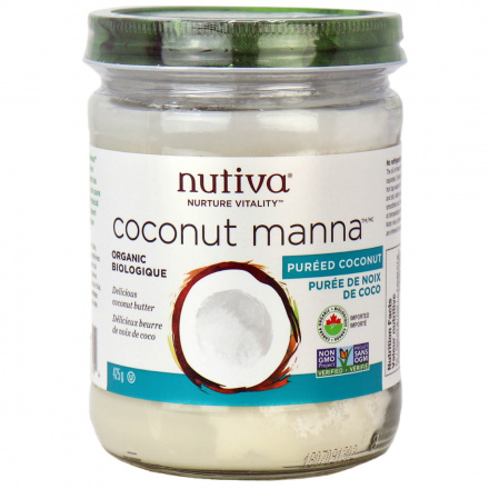 Front of Nutiva Organic Coconut Manna, 425g
