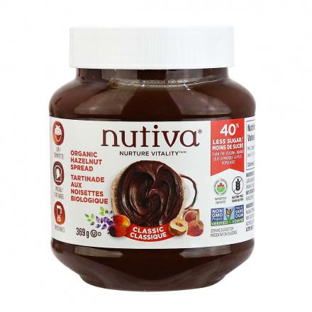 Front of Nutiva Organic Hazelnut Spread Classic, 369g