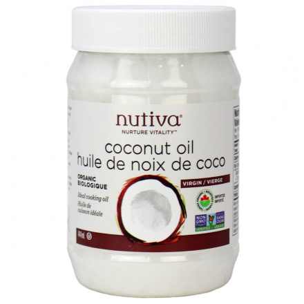Front of Nutiva Organic Virgin Coconut Oil, 444ml
