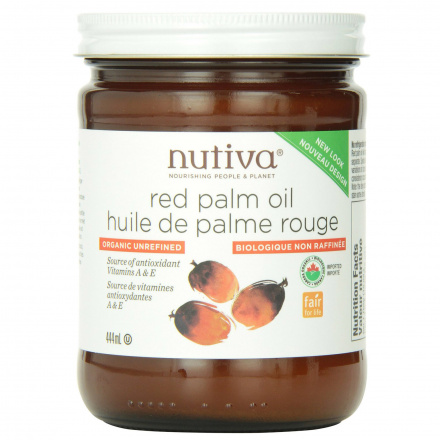 Front of Nutiva Organic Red Palm Oil, 444ml