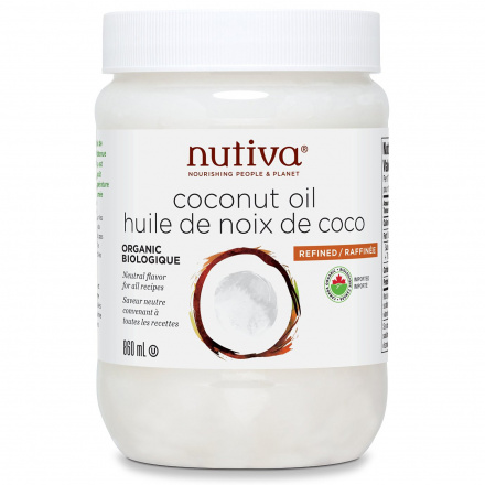 Nutiva Organic Refined Coconut Oil, 860ml